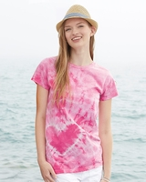 Tie-Dyed - Ladies 30s Ringspun Heart T-Shirt - 150HT - 3 Colors - S-2XL