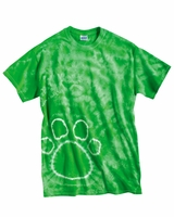 Tie-Dyed - Pawprint Short Sleeve T-Shirt - 200PR - S-3XL - 8 Colors