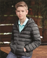 Weatherproof - 32 Degrees Youth Packable Hooded Down Jacket - 15600Y - S-L - 3 Colors