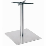 Brushed Stainless Steel 22'' x 28.375''H Outdoor Square Table Base [5022-28-SS-PMI]