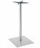 Brushed Stainless Steel 22'' x 42.5''H Outdoor Square Table Base [5022-43-SS-PMI]