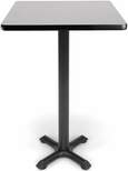 24'' Square Cafe Table - Gray Nebula Top with X-Style Base [XTC24SQ-GRYNB-MFO]