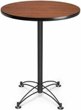 30'' Round Cafe Table - Cherry with Black Base [CBLT30RD-CHY-MFO]