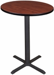 Cain 30'' Round Laminate Cafe Table with PVC Edge - Cherry [TCB30RNDCH-FS-REG]