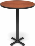 30'' Round Cafe Table - Cherry Top with X-Style Base [XTC30RD-CHY-MFO]