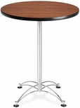 30'' Round Cafe Table - Cherry with Chrome Base [CCLT30RD-CHY-MFO]