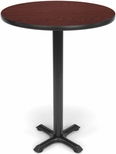 30'' Round Cafe Table - Mahogany Top with X-Style Base [XTC30RD-MHGY-MFO]