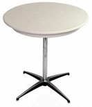 30'' Round Elite Cocktail Series Blow Molded Table Top with 30'' Chrome Finished Column [212200-MES]
