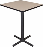 Cain 30'' Square Laminate Cafe Table with PVC Edge - Beige [TCB3030BE-FS-REG]