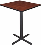 Cain 30'' Square Laminate Cafe Table with PVC Edge - Cherry [TCB3030CH-FS-REG]
