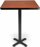 30'' Square Cafe Table - Cherry Top with X-Style Base [XTC30SQ-CHY-MFO]