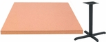 30'' Square Laminate Table Top with Self Edge and Base - Bar Height [ATE3030-T2222-BAR-3M-SAT]