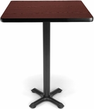 30'' Square Cafe Table - Mahogany Top with X-Style Base [XTC30SQ-MHGY-MFO]