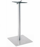 Brushed Stainless Steel 30'' x 42.5''H Outdoor Square Table Base [5030-43-SS-PMI]