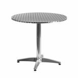 31.5'' Round Aluminum Indoor-Outdoor Table with Base [TLH-052-3-GG]