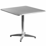 31.5'' Square Aluminum Indoor-Outdoor Table with Base [TLH-053-3-GG]