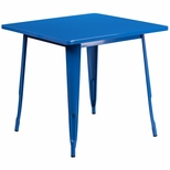 31.5'' Square Blue Metal Indoor-Outdoor Table [ET-CT002-1-BL-GG]