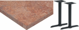 36'' x 48'' Laminate Table Top with Self Edge and 2 Bases - Standard Height [ATE3648-T0522M-SAT]