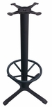 4 Prong Cast Iron Bar Height Table Base with 19''D Footring [JI3-30TP12BHFR-JIB]