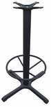 4 Prong Cast Iron Bar Height Table Base with 22''D Footring [JI4-30TP12BHFR-JIB]