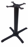 4 Prong Cast Iron Dining Height Table Base with 22'' x 30'' Base Spread and 3''D Column [JI3-2230TP12-JIB]
