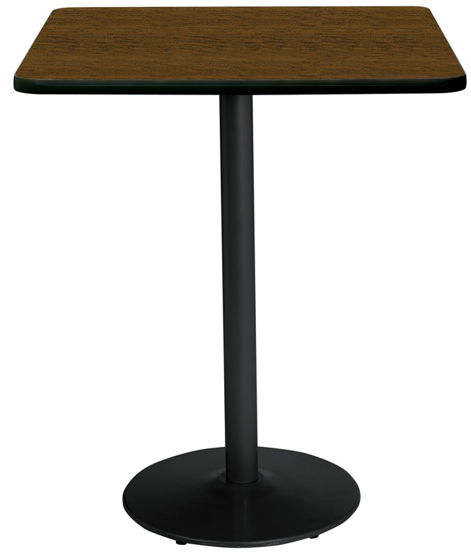 Coffee Height Square Small Table Base Round: 42'' Square Laminate Bistro Height Pedestal Table With