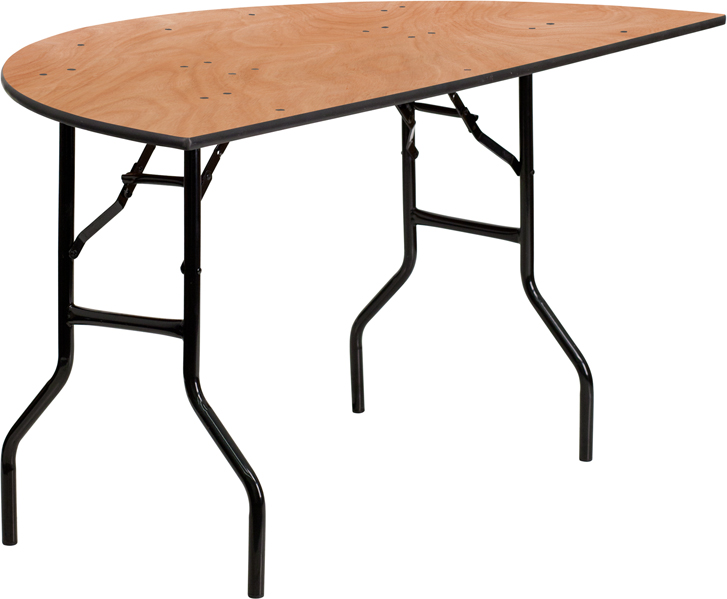 60 39 39 Half Round Wood Folding Banquet Table YT WHRFT60 HF GG