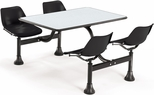 64.25'' D Cluster Table - Black Seat and Gray Nebula Laminate Top [1002-BLK-GRYNB-MFO]