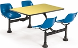 64.25'' D Cluster Table - Blue Seat and Yellow Laminate Top [1002-BLUE-YLW-MFO]