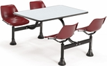 64.25'' D Cluster Table - Maroon Seat and Gray Nebula Laminate Top [1002-MRN-GRYNB-MFO]