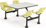 64.25'' D Cluster Table - Yellow Seat and Beige Nebula Laminate Top [1002-YLW-BGNB-MFO]