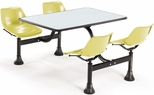 64.25'' D Cluster Table - Yellow Seat and Gray Nebula Laminate Top [1002-YLW-GRYNB-MFO]