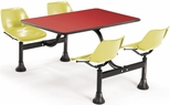 64.25'' D Cluster Table - Yellow Seat and Red Laminate Top [1002-YLW-RED-MFO]