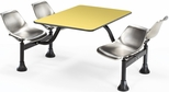 71'' D Cluster Table - Stainless Steel Seat and Yellow Laminate Top [1003-SS-YLW-MFO]