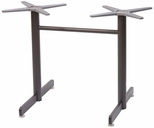 Aluminum 29''H Outdoor Double Pole Table Base - Bronze [AL-2600-DP-BRONZE-FLS]