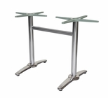 Aspen 2 Polished Aluminum Double Column Table Base - Silver [SC-1601-587-SCON]