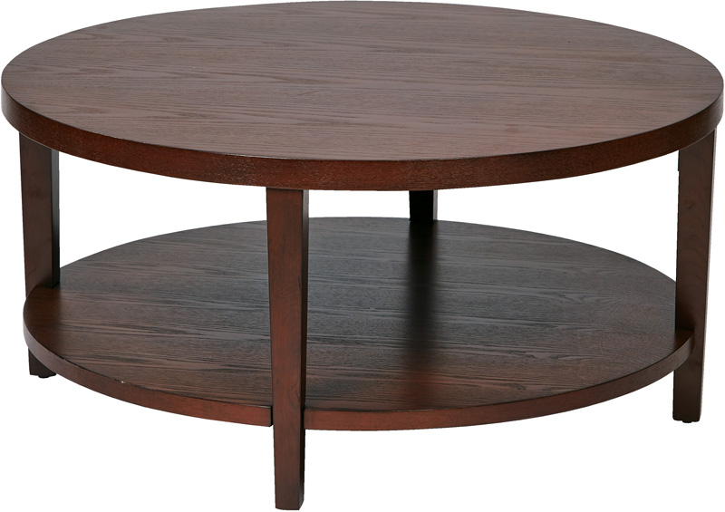 Mahogany Round Coffee Table With