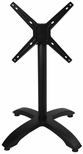 Bali 4-Leg Black Powder Coated Aluminum Folding Base [PHTB2626BLF-BFMS]