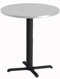 Bistro 30'' Round Bar Height Table with Black Cast Iron Base - Folkstone [CA30RHBTFLK-FS-MAY]