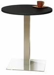Bistro 30'' Round Bar Height Table with Stainless Steel Base - Anthracite [CA30RHSTANT-FS-MAY]