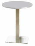 Bistro 30'' Round Bar Height Table with Stainless Steel Base - Folkstone [CA30RHSTFLK-FS-MAY]