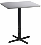Bistro 30'' Square Bar Height Table with Black Cast Iron Base - Folkstone [CA30SHBTFLK-FS-MAY]