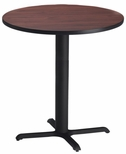 Bistro 36'' Round Bar Height Table with Black Cast Iron Base - Regal Mahogany [CA36RHBTRMH-FS-MAY]