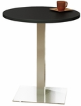 Bistro 36'' Round Bar Height Table with Stainless Steel Base - Anthracite [CA36RHSTANT-FS-MAY]