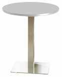 Bistro 36'' Round Bar Height Table with Stainless Steel Base - Folkstone [CA36RHSTFLK-FS-MAY]