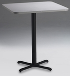 Bistro 36'' Square Bar Height Table with Black Cast Iron Base - Folkstone [CA36SHBTFLK-FS-MAY]