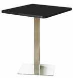 Bistro 36'' Square Bar Height Table with Stainless Steel Base - Anthracite [CA36SHSTANT-FS-MAY]