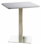 Bistro 36'' Square Bar Height Table with Stainless Steel Base - Folkstone [CA36SHSTFLK-FS-MAY]