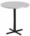 Bistro 42'' Round Bar Height Table with Black Cast Iron Base - Folkstone [CA42RHBTFLK-FS-MAY]