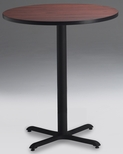 Bistro 42'' Round Bar Height Table with Black Cast Iron Base - Regal Mahogany [CA42RHBTRMH-FS-MAY]